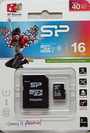 כרטיס מיקרו SD 16GB Class 10 - סיליקון פאוור