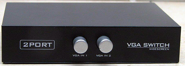 בורר מכני 2 כניסות ליציאת VGA