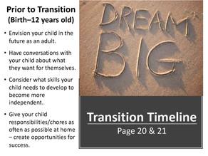 Transition to Adulthood Workshop – Includes link to slides