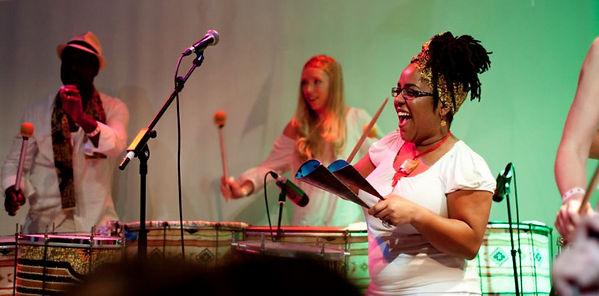 Hit the Ground Drumming - Adults playing samba reggae