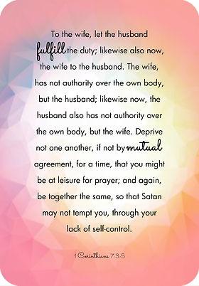 1 Corinthians 7:3-5