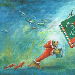 Nikolausfisch mit Buch