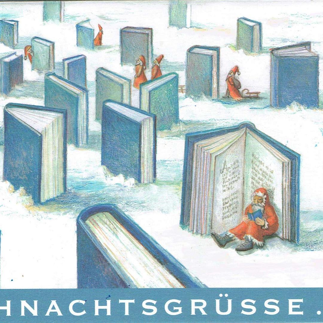Postkarte Bücherwald