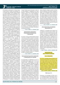 Publicación en el Boletín Oficial