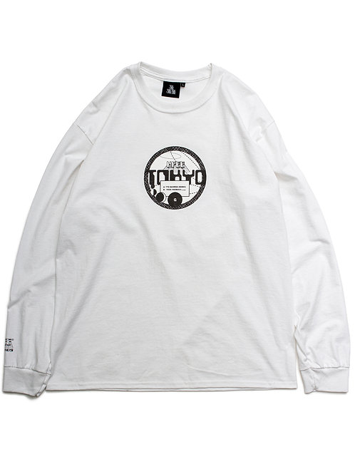 RECORDS L/S TEE WHITE