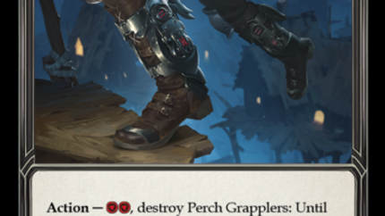 PERCH GRAPPLERS Majestic CRU122 Flesh & Blood TCG