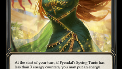 Fyendal's Spring Tunic NM Rainbow Foil WTR Unlimited Flesh and Blood TCG
