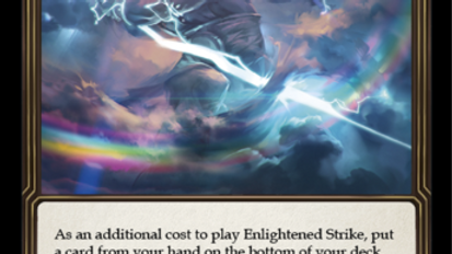 Enlightened Strike WTR Unlimited Flesh and Blood TCG