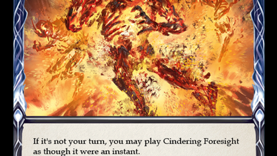 Cindering Foresight (Red) Foil Crucible of War Flesh and Blood TCG