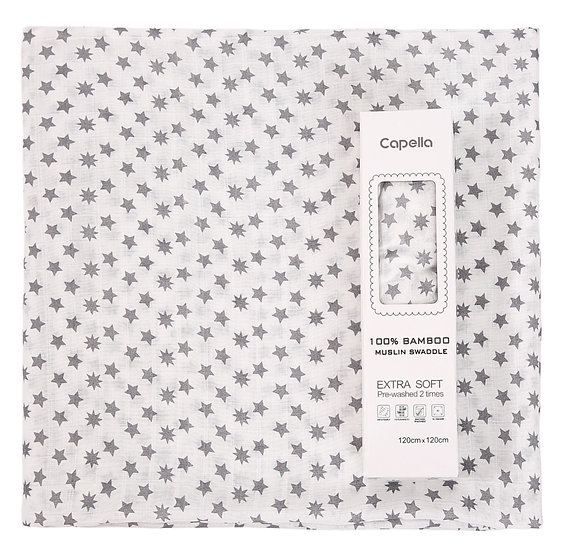 Capella - swaddle 竹纖維嬰兒包巾 大星圖案