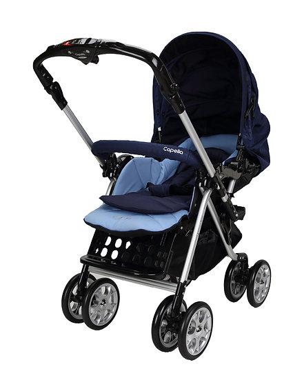 Capella - S-707T 雙向豪華型嬰兒手推車 - 深藍色