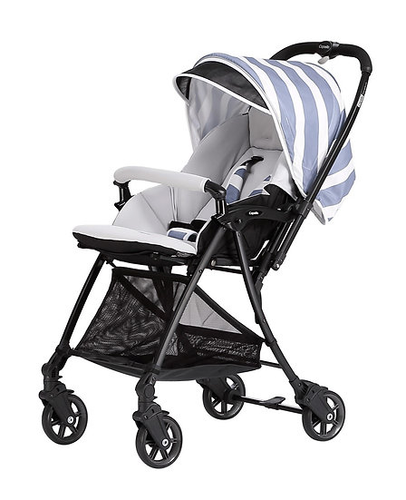 Capella - S-201 Wi-lite 雙向高眺輕量闊身4.5kg嬰兒手推車 - 藍白條紋