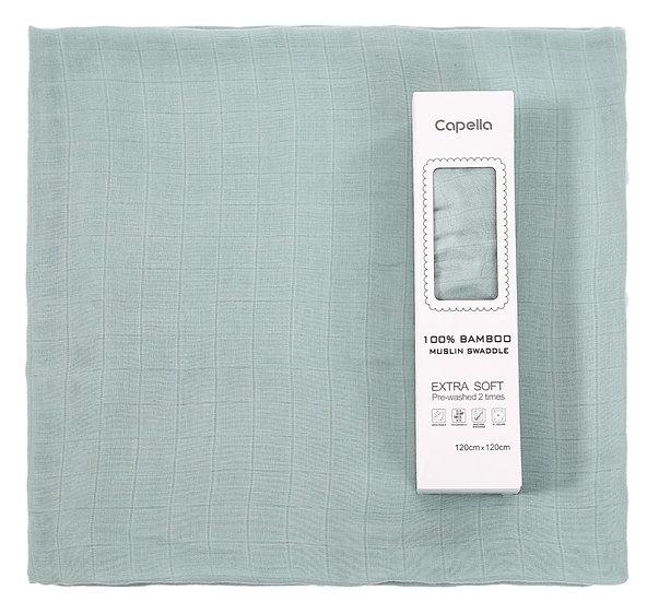 Capella - swaddle 竹纖維嬰兒包巾 綠色