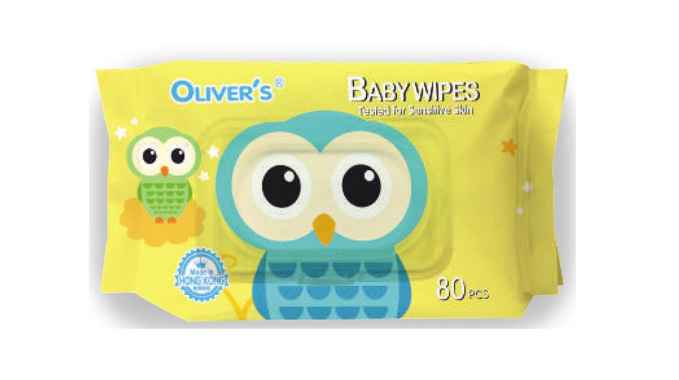 Oliver's - 澳華氏嬰兒濕紙巾 (適合敏感肌膚) - 80片裝