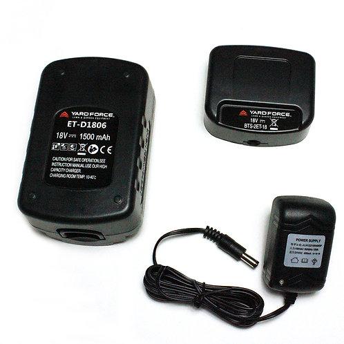 コードレス耕運機専用18Vバッテリー/充電器セット ET-D1806/BTS-2ET-18