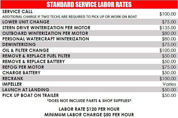 Service Labor Rates