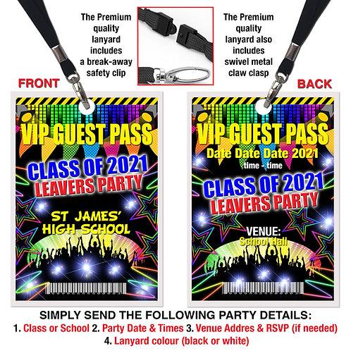 VIP PARTY LANYARD School, College, Graduation, Leavers