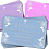 Thumbnail: Holy Communion, Floral,  Invitation. Red, Purple or Blue