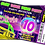 Thumbnail: Glow, Neon, Disco, UV,  Party Invitation. Ticket Style, Red, Pink or Blue