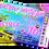 Thumbnail: Hot Tub, Sleepover, Party Invitation. Ticket Style, Pastels: Purple, Blue, Pink