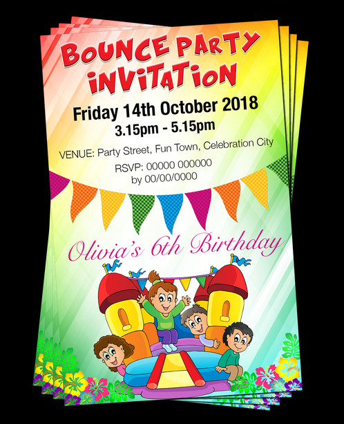 Bouncy Castle Birthday Party Invitation