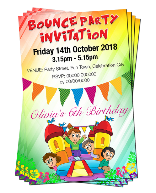 Bouncy Castle Birthday Party Invitation