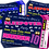 Thumbnail: Sleepover, Slumber, Birthday Party Invitation. Ticket Style, Red, Pink or Blue