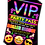 Thumbnail: Roller Disco, Birthday Party Invitation. VIP Pass. Emoji. Red, Pink or Blue