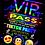 Thumbnail: TikTok, Birthday Party Invitation. VIP Pass. Emoji. Red, Pink or Blue