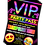 Thumbnail: Trampoline, Birthday Party Invitation. VIP Pass. Emoji. Red, Pink or Blue