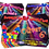Thumbnail: Bouncy Castle Disco Party Birthday Invitation. Red, Pink or Blue