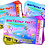 Thumbnail: Gymnastics, Birthday  Party Invitation. Ticket Style, Red, Pink or Blu