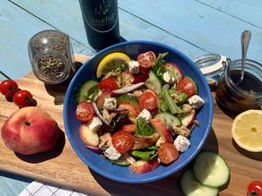 Salade estivale aux pêches