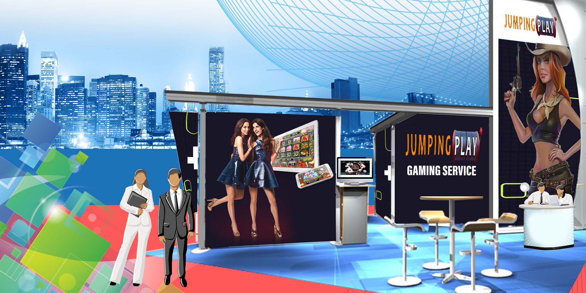 Jumping Play Stand Global Gaming Digital