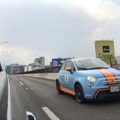 Fiat 500e Gulf Livery 2015