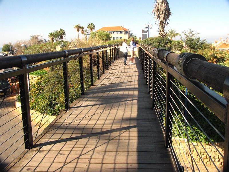 Ponte dos Desejos, em Jaffa, Israel