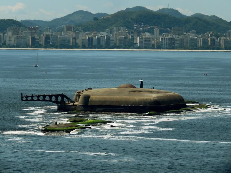 Forte da Lage visto da Fortaleza de São João