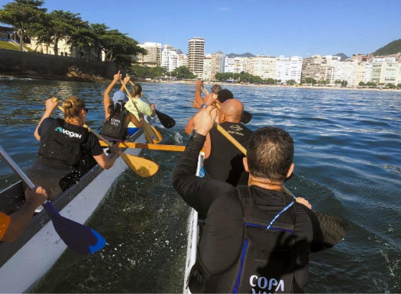 Treino do clube de canoa havaiana Copa Va'a