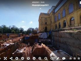 Tour digital permite que o público acompanhe as obras do Museu do Ipiranga, em São Paulo