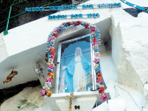 Santuário Nossa Senhora das Graças destaca-se como local de meditação para devotos