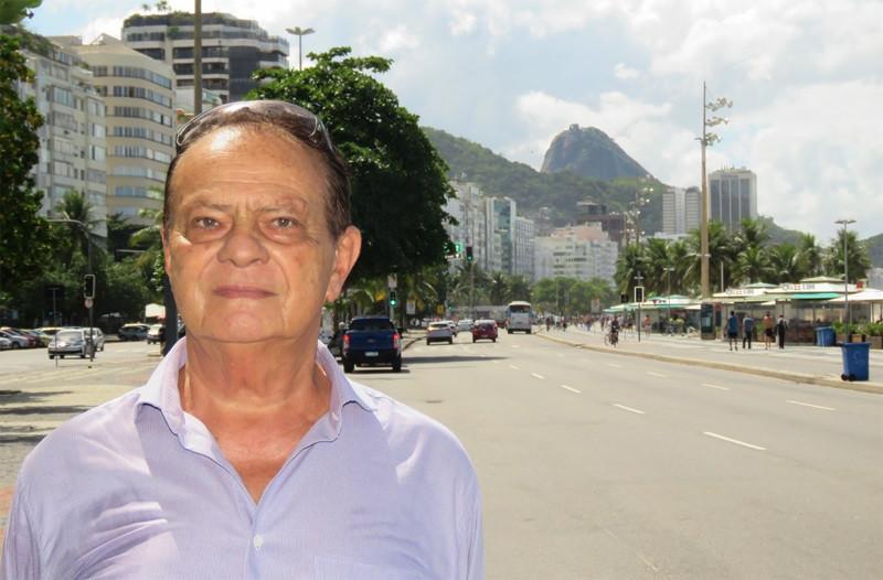 Roberto Roland, presidente da Associação de Moradores e Proprietários de Imóveis na Avenida Atlântica