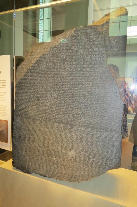 Pedra de Rosetta, no British Museum