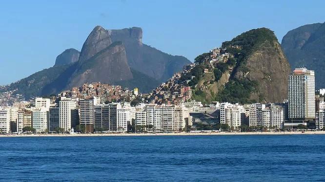 Orla de Copacabana vista do mar