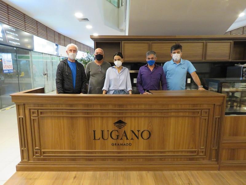 Grupo levou a chocolateria Lugano, de Gramado, ao espaço