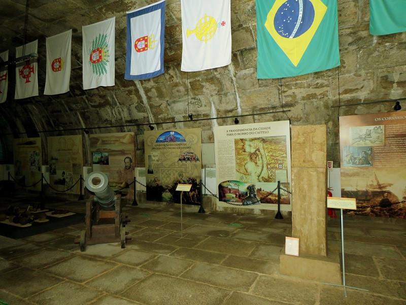 O Museu Histórico da Fortaleza de São João fica no antigo paiol do Forte São José