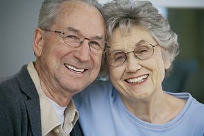 Couple with dentures
