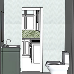 Francesca Project-Kitchen & Powder Room