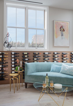 Sacha Jacq Interiors - Wine Area - Photo Credit: Michael Lee Photography
