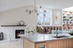 Sacha Jacq Interiors - Kitchen to dining - Photo Credit: Michael Lee Photography