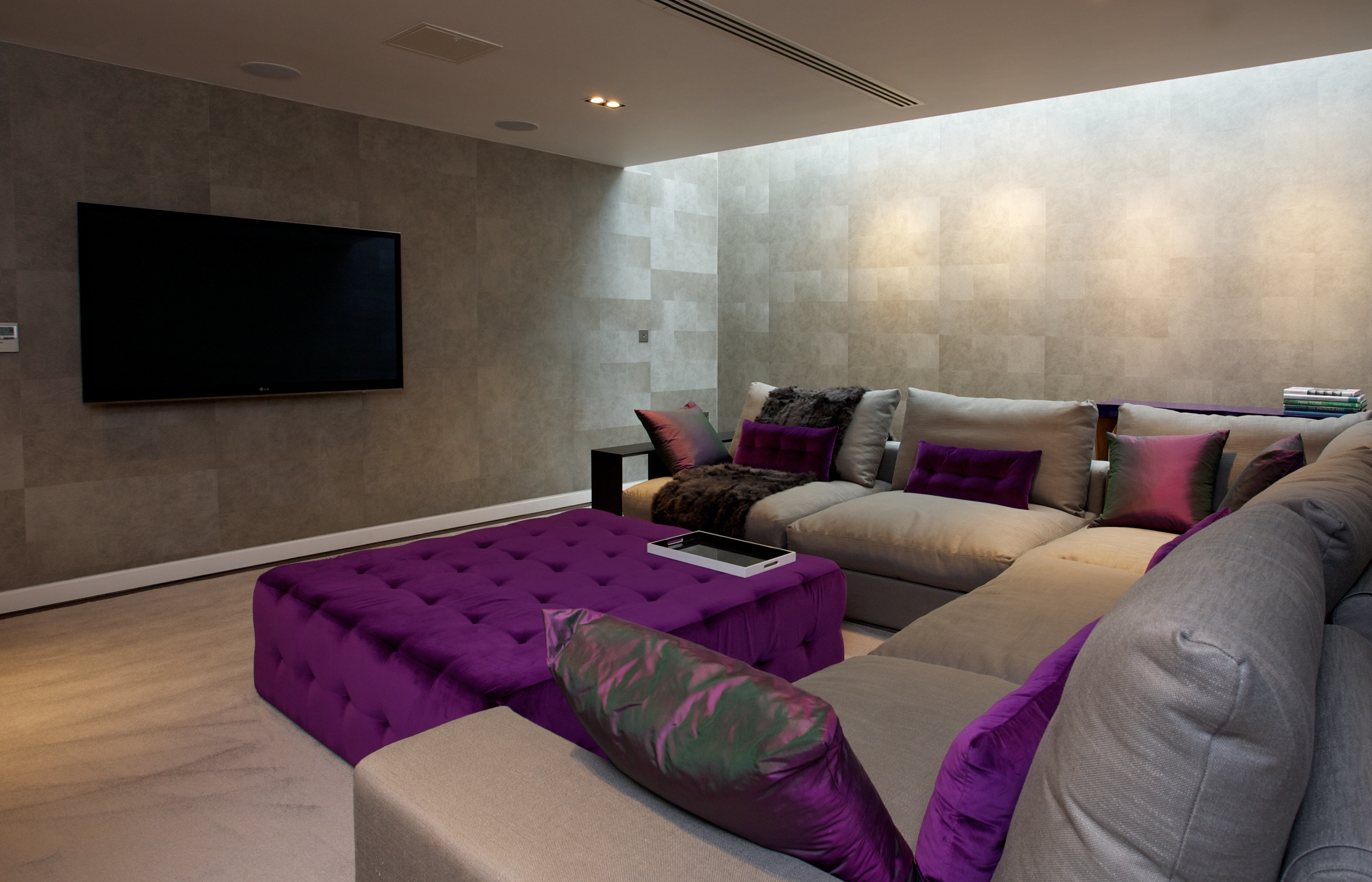 Modern Lounge/Theater Room